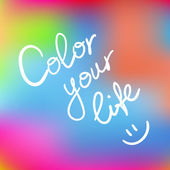 Color your life — Stock Vector