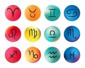 Zodiac signs. Vector icons — Stock Vector