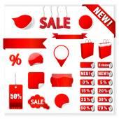 Vector Sale Tags — Cтоковый вектор