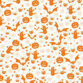 Halloween inconsútil — Vector de stock