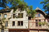 Half-timbered houses in Troyes, France — Stock Photo