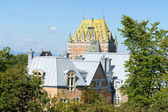 Roofs of Quebec City in Canada — Стоковое фото