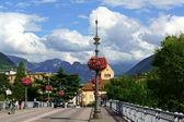 Ponte Talvera bridge in downtown Bolzano (Bozen) — Stock Photo