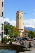 Train Station Square in Bolzano (Bozen), Italy — Stock Photo