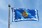 The flag of Quebec City, Canada — Foto Stock