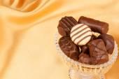 Assortment of chocolate pralines — Stock Photo