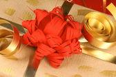 Close-up of a Christmas present — Foto de Stock