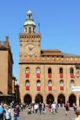 Palazzo D'Accursio town hall in Bologna, Italy — Stock Photo
