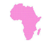 Image of modern Africa map — Stock Photo