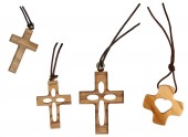 Selection of wooden cross isolated — 图库照片