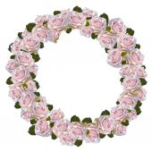 Rose wreath — Stock Photo