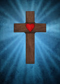 Holy cross on a blue background — Stock Photo