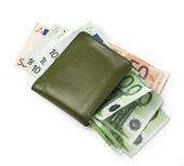 Wallet with euros — Stock Photo