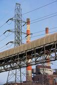 Elektriciteitsnet structuur — Stockfoto