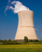 Reactor Cooling Tower Steam — Stock Photo