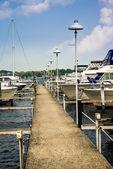 Local Detroit Marina — Stock Photo