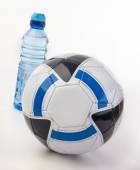 Soccer Ball and Water Bottle — Stock Photo