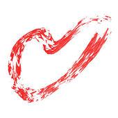 Símbolo del corazón pintado — Foto de Stock