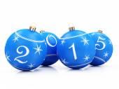 Blue Christmas Balls 2015 — Stock Photo