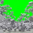 Animation of Broken Concrete Wall — Stock Video #55115237