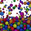 Colorful Balls Falling — Stock Video #55117279