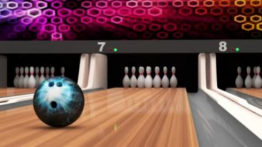 Animation of Bowling Strike — Vídeo stock