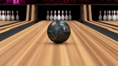 Animation of Bowling Strike. — Stock Video