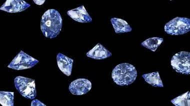 Falling Blue Diamonds — Stock Video