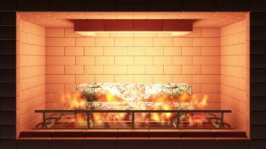 Hořící krb — Stock video