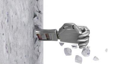 Metal Robotic Hand — Stock Video