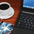 Work with Group of Office Equipment and Accessories — Stock Photo #58293477