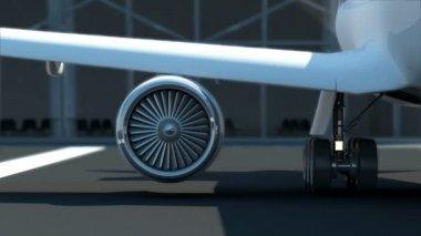 Airplane Turbine Engine — Stock Video