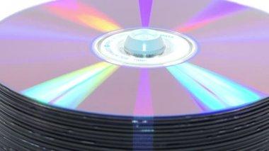 Woman take a disk HD — Стоковое видео