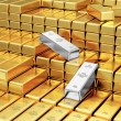 Stack of Golden and Silver Bars — Stock Photo #66715485