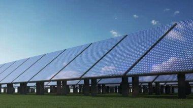 Modern Solar Panels Farm — Stock Video