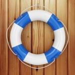 Close-up of blue Lifebuoy — Stock Photo #71182265
