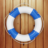 Close-up of blue Lifebuoy — Stock Photo
