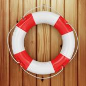 Close-up of Red Lifebuoy — Stock Photo