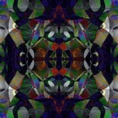 Motley symmetrical pattern, kaleidoscope set — Stock Photo
