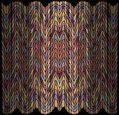 Geometrical pattern, design elements set, color tiles — Stock Vector