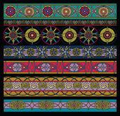 Pattern colored, geometrical elements set — Cтоковый вектор