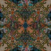 Decoration  geometrical pattern, brown scales  mosaic — Stock fotografie