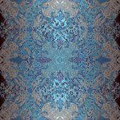 Decoration  eometrical pattern, mosaic ornament blue — Zdjęcie stockowe
