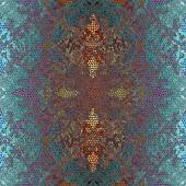 Decoration  geometrical pattern, green and pink mosaic — Stock fotografie