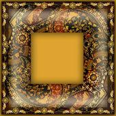 Decoration motley animal pattern,exotic frame, tropical motif — Zdjęcie stockowe