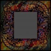 Decoration motley animal pattern, exotoc frame, tropical motif — Stock Photo