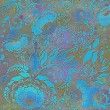 Floral pattern,turquoise-grey pastel colored, background — Stock Photo #71818477