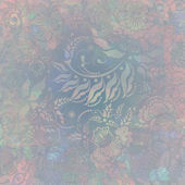 Floral pattern, pink-grey pastel colored, background — Stock fotografie