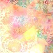 Floral pattern,pink-grey pastel colored, background — Stock Photo