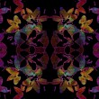 Abstract  background, silhouettes coloured flowers — Stockfoto #73524959